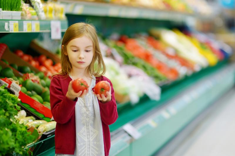 Use seasonal fruits and vegetables as an educational opportunity to teach your little one.