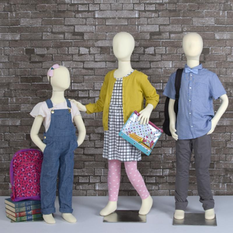 Use child mannequins to display trendy SKUs.