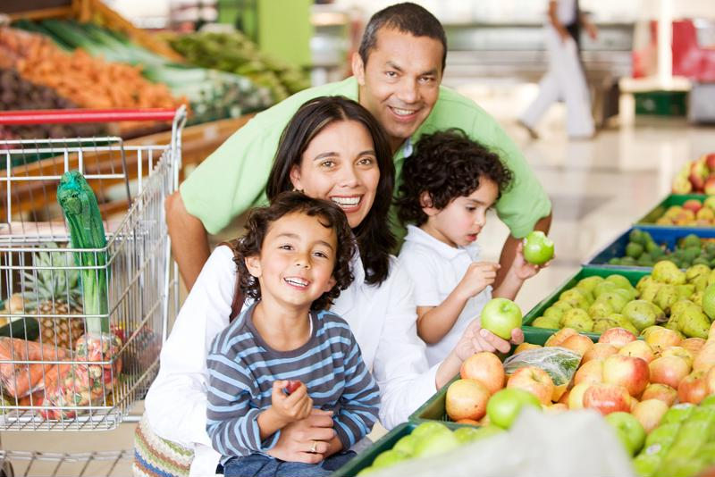 Focus on the outer aisles of the grocery store, where the  natural, healthiest whole foods are.