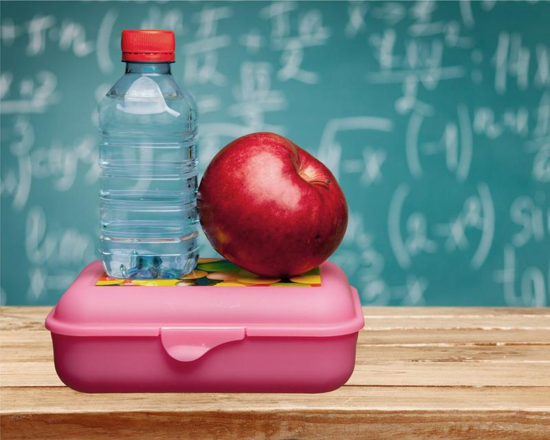 back to school, school lunch, lunchbox, water, hydration, healthy