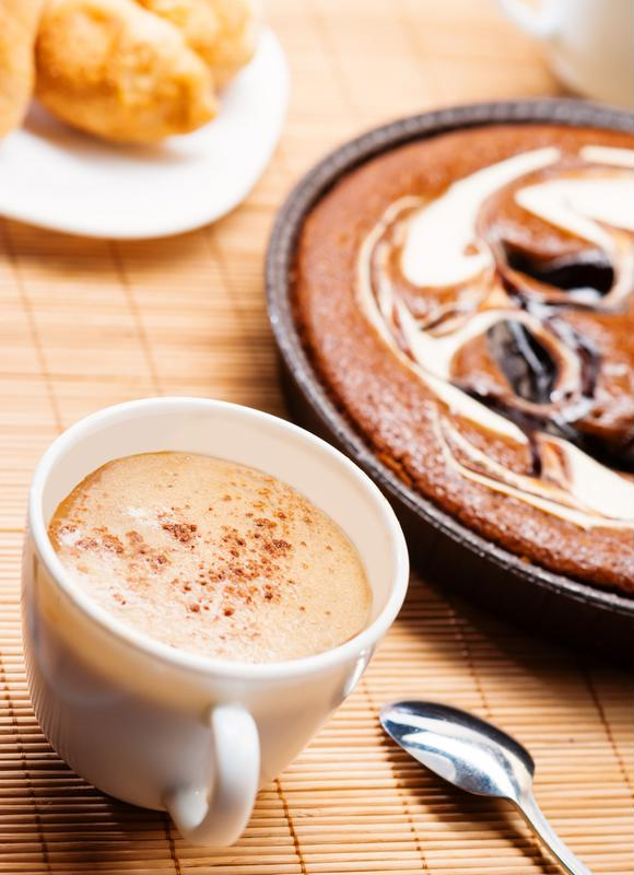 Swirls in your coffee, swirls in your pie. It must be a match.