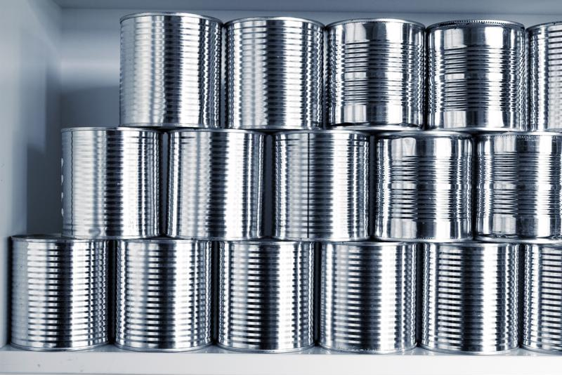 Even canned goods need to be stored properly.