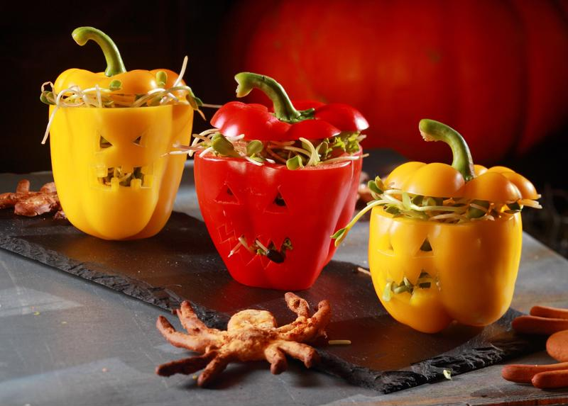 Stuffed Jack-O-Lantern peppers will add a festive feel to any meal.