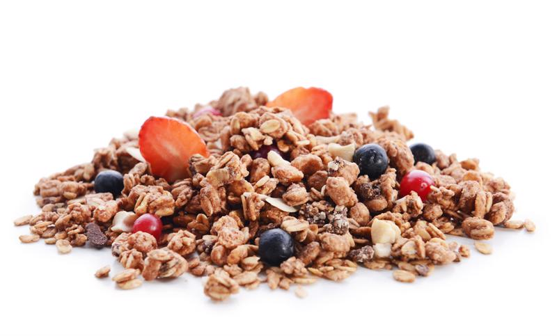 Granola is portable, sweet and healthy.
