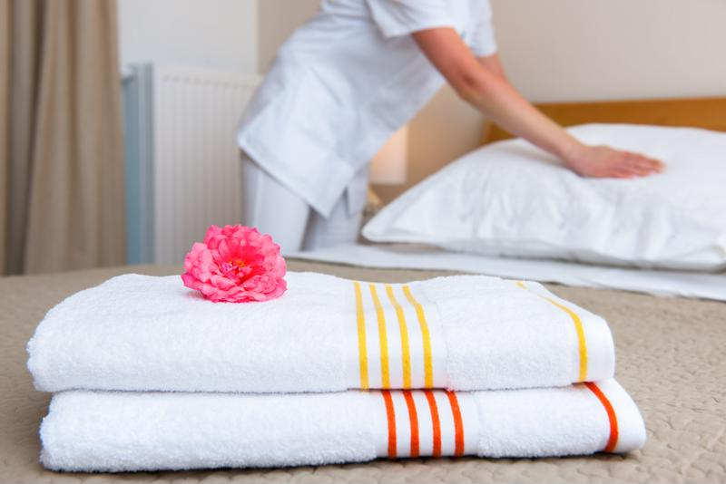 Poor indoor air quality could mean infested sheets and towels.