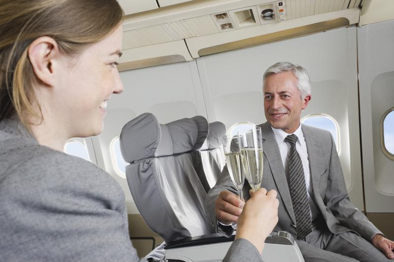 You never know when a rewards program can bump you up to first class.