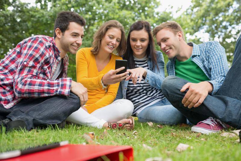 Mobile apps help students learn about study groups and other campus activities.
