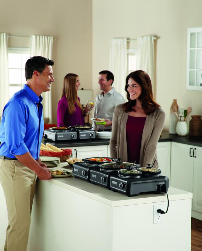 Use your Crock-Pot® Hook Up® Connectable Entertaining System 3-Piece Set to try all three trail mix recipes at once.