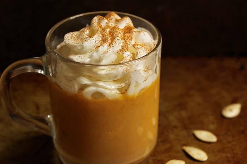 Top off your latte with some whipped cream for a really delectable treat.