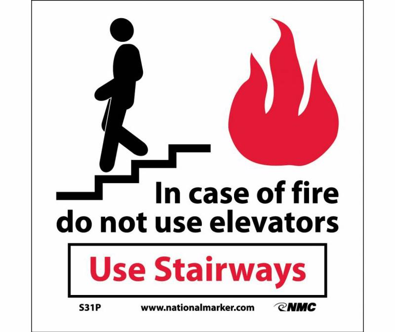 Fire safety signs must be concise and visible.