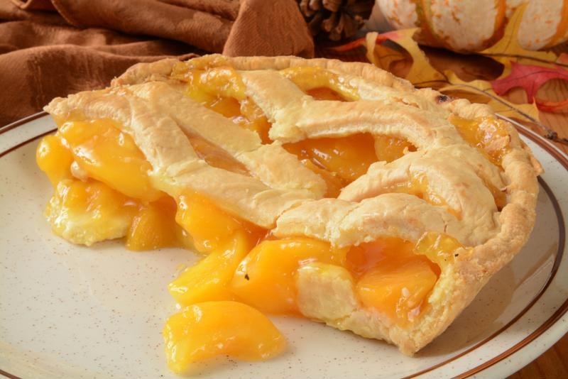 Ginger Peach pie is delicious and low in calories.