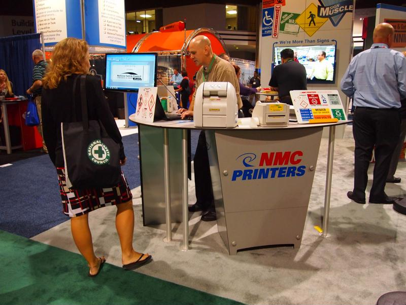 With its bright colors, NMC's booth truly stood out.