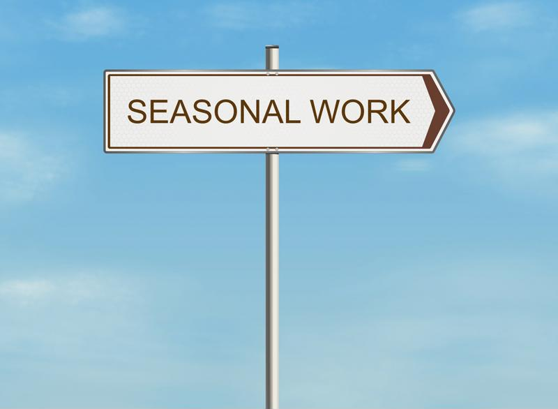 Seasonal hiring image.