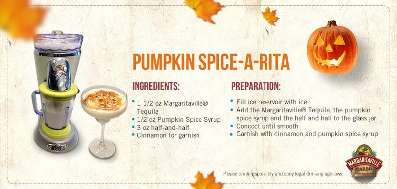 Get on the Pumpkin Spice bandwagon with this cocktail.
