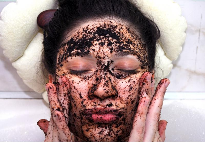 Coffee grounds are great for exfoliating.
