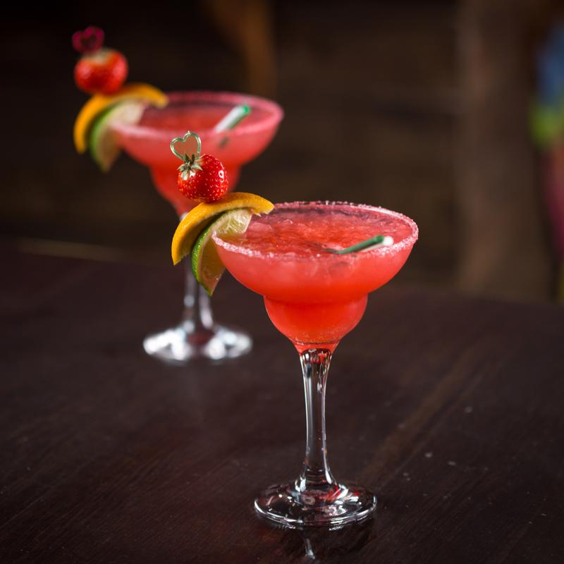 Strawberry margaritas are a great idea any time of the year.