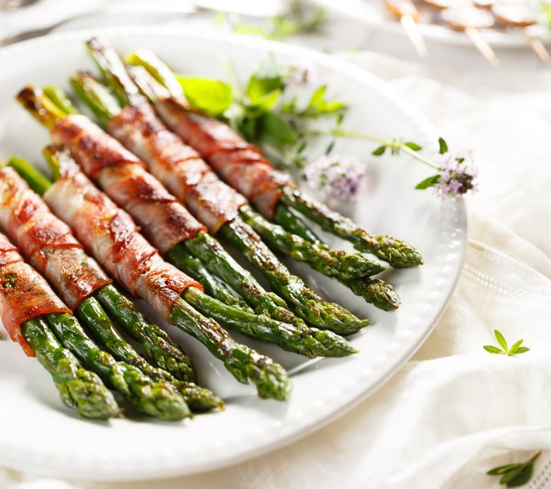 Try bacon-wrapped asparagus.