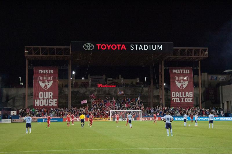 Toyota Stadium is where you'll find the supporters of FC Dallas.