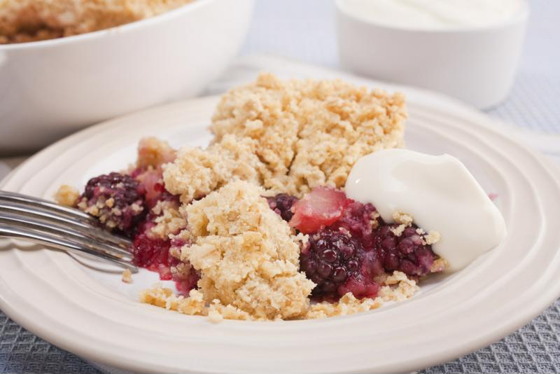 This apple and blackberry crumble gives you all the flavor you expect from a dessert with a heart-healthy twist.