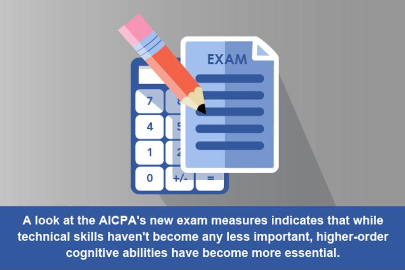 The new CPA Exam has a different emphasis than older variations.