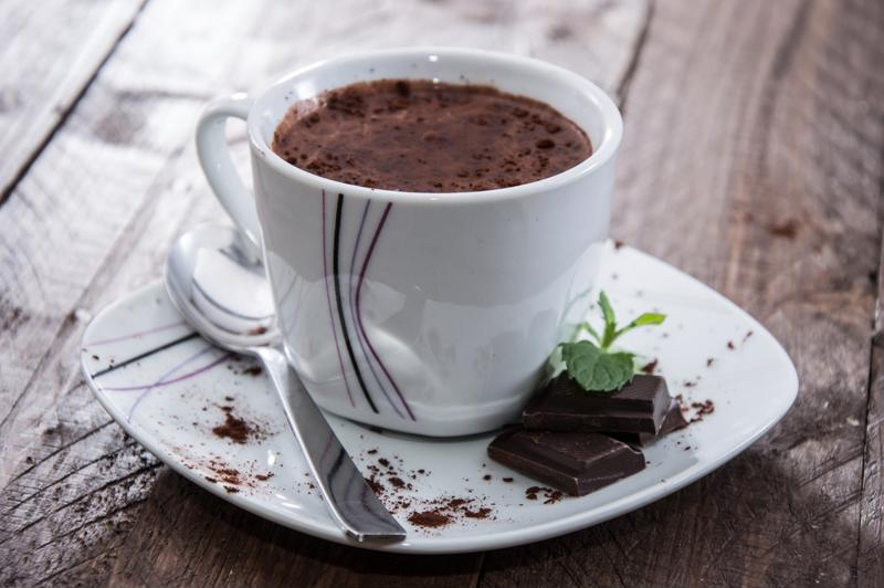 A sweet cup of hot chocolate will perk you up after a day outdoors.
