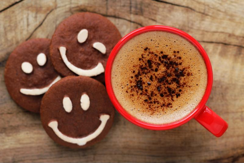 Even cookies are happy to be paired with coffee.