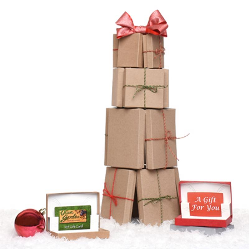 Gift card boxes make a simple gift look fun and inviting.
