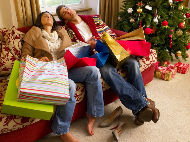 The holidays can be exhausting. Make sure to get plenty of good rest.