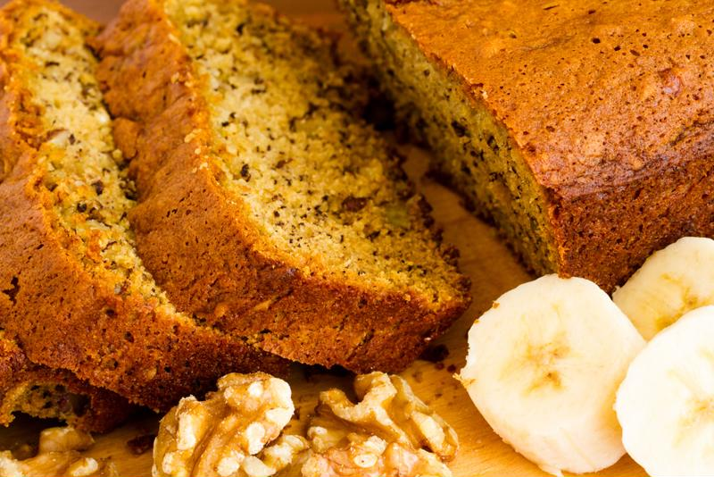 Add nuts to your banana bread.
