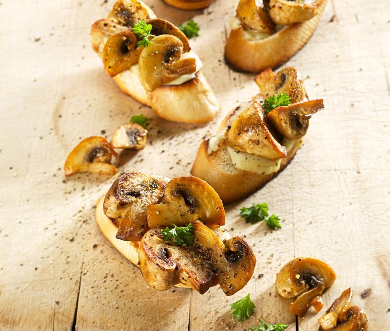 Crostinis make for a classy, bite-size appetizer.