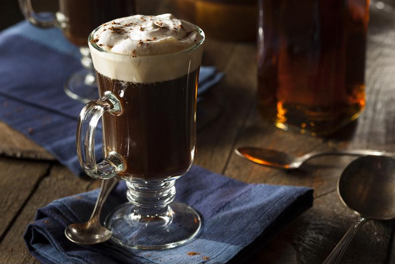 Irish coffee is a true classic.