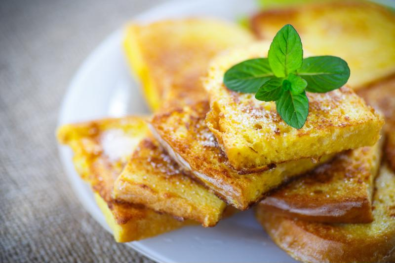Coffee-infused French toast is a great way to start the morning.