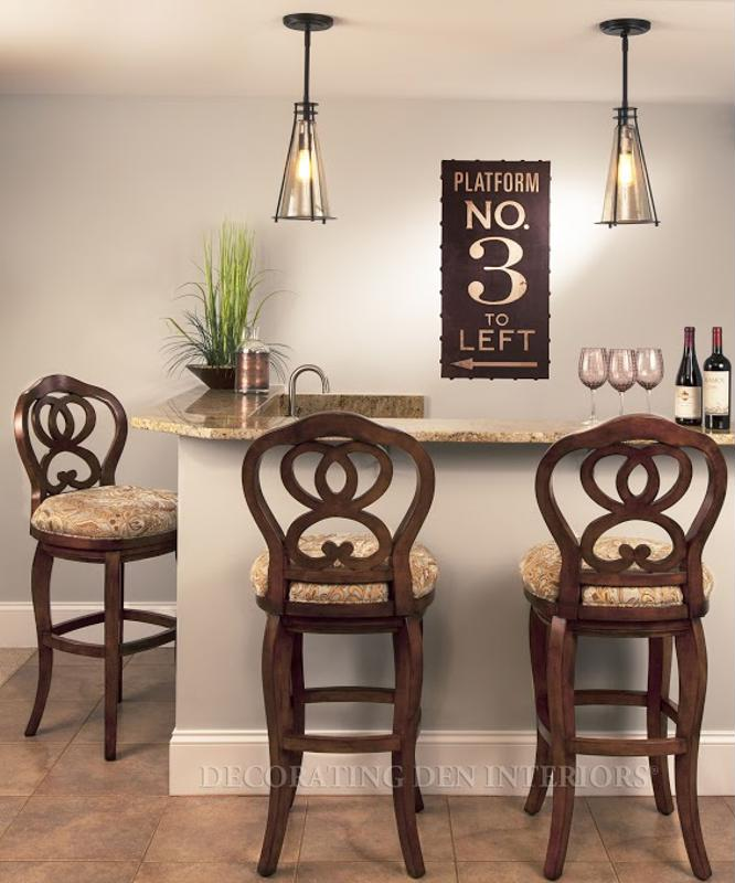 Consult with a designer to create a fun and fabulous home bar.