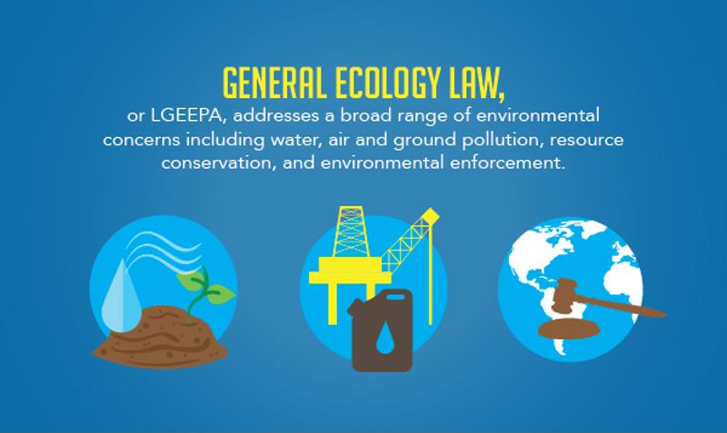 In Mexico, the general ecology law addresses concerns involving water, air and ground pollution.