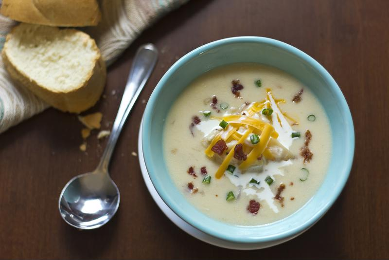 Satisfy any player on game day with the recipe for this corn and potato chowder.