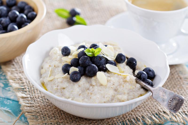 Treating yourself to a bowl of porridge is a healthy way to start your day.