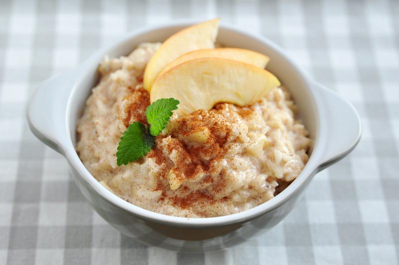 Apple pie porridge is a sweet and healthy breakfast meal.