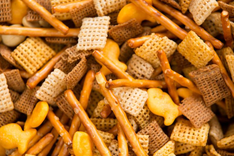 Customize your chex mix by adding any dry snack you'd like.