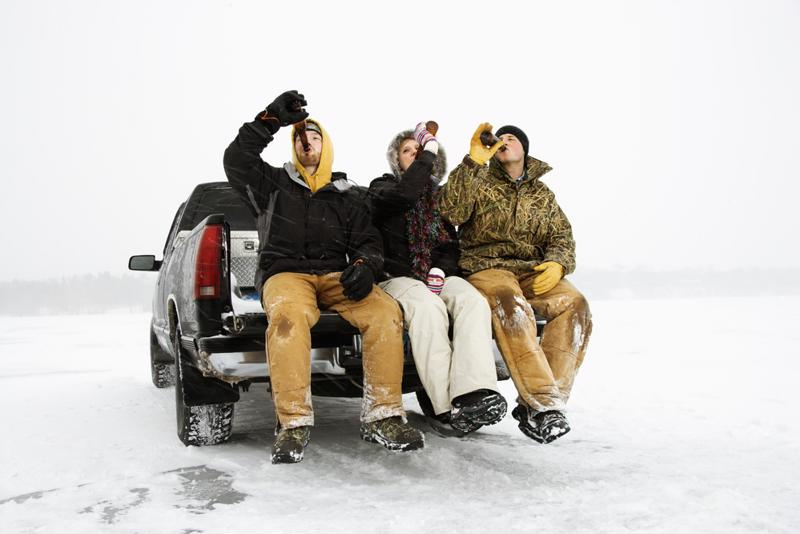 It's important to dress in layers when tailgating in the cold weather.