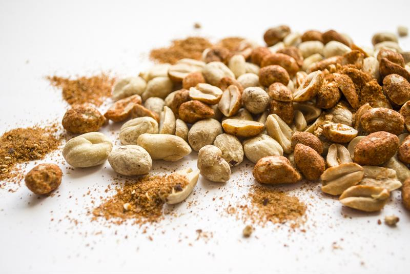 A sweet and spicy peanut mix is a perfect dish for your coffee table.
