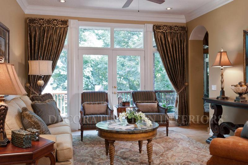 Elegant drapes add warmth and sophistication to any room.