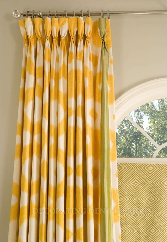Beautiful metallic poles enhance the appearance of your stylish drapery.