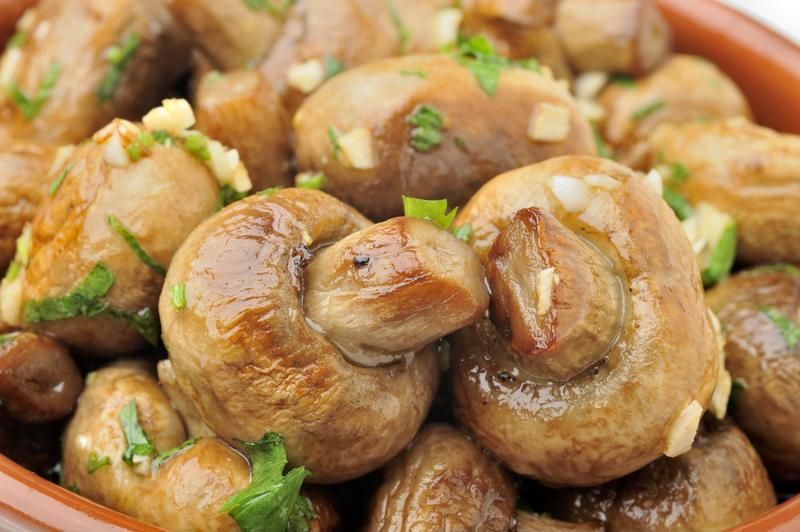 Serve ranch mushrooms with toothpicks for ease.