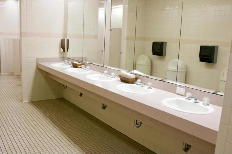 Underneath school sinks are the perfect place to install point-of-use electric tankless water heaters.