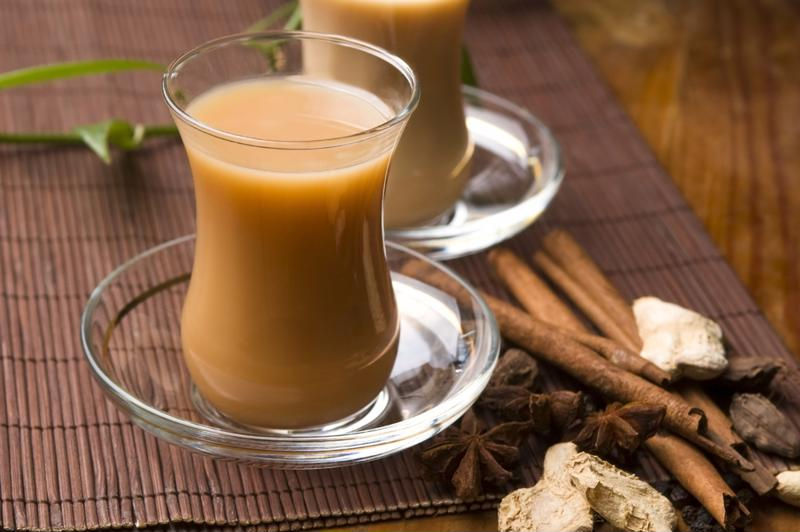 Chai tea will warm you up on a cold winter evening.