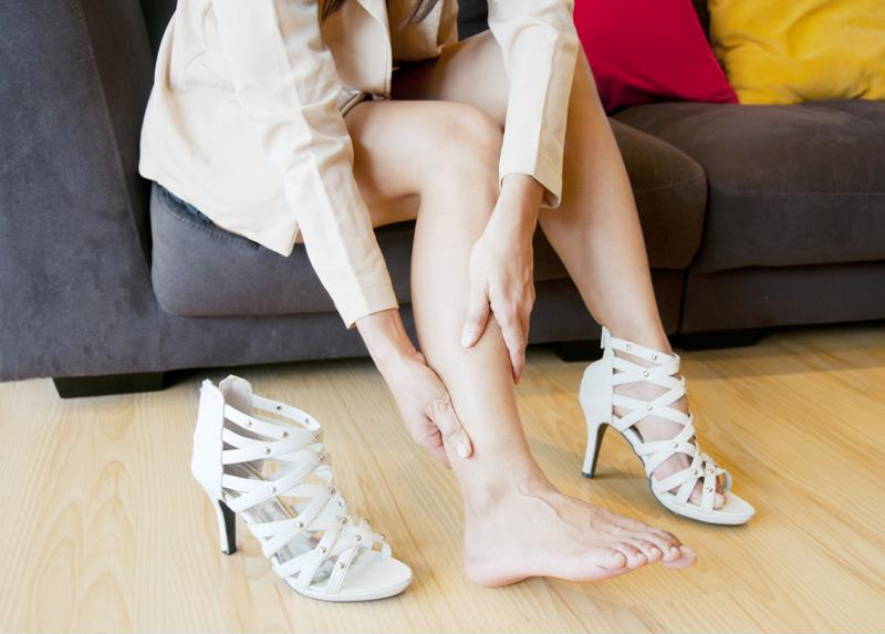 Wearing the wrong kind of shoe can cause further pain.