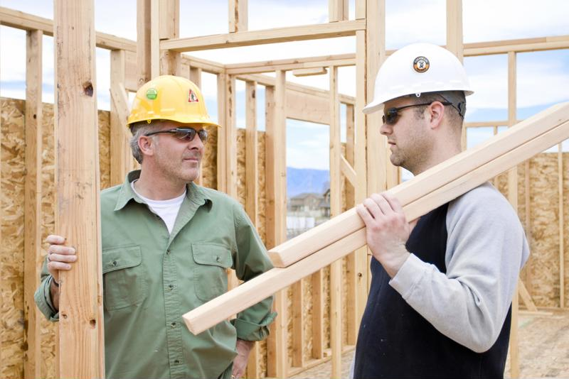Hard hats can greatly reduce the impact of a falling piece of wood.