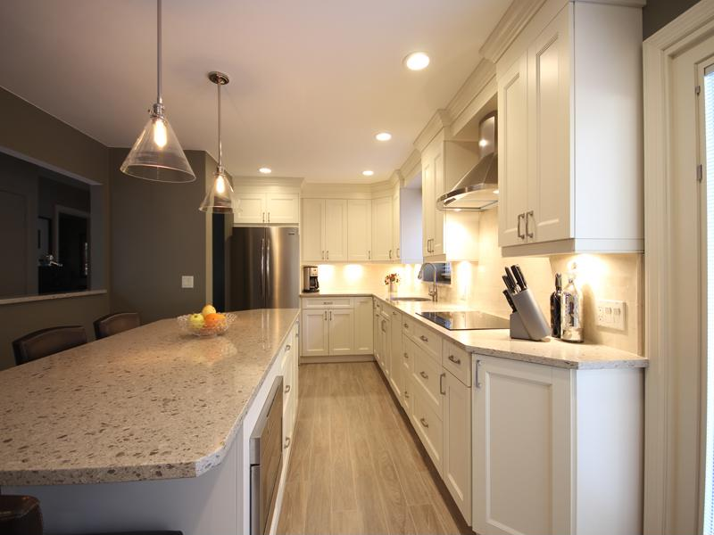 Creating more counter space in a small kitchen - Stylishly modern kitchen islands additional work surface ...