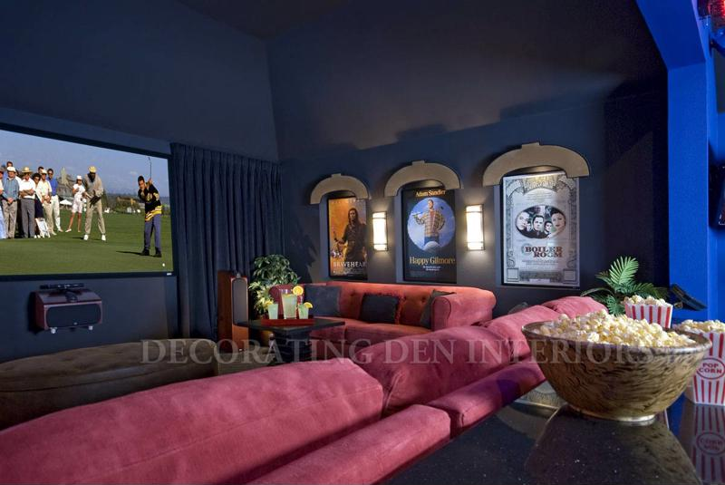 If you want to a large portion of your game room to be a home theater, ensure you have ample space for cozy seating.