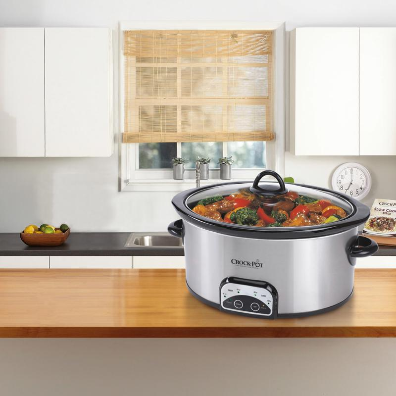 The Crock-Pot  Smart-Pot 4-Quart Digital Slow Cooker will look great in the newlywed's new kitchen.